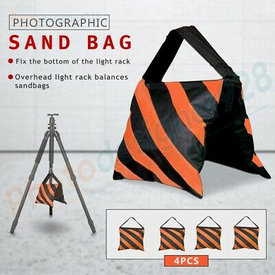 4x Photography Studio Sand Bags Sandbag Weight Ballast For Boom Arm Light Stand