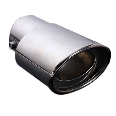 Chrome Stainless Steel Car Rear Exhaust Pipe Tail Muffler Tip 62MM D4E4