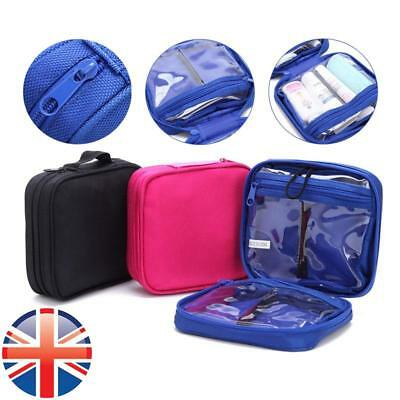 *UK Seller* Expandable Travel Make Up Pouch Wash Toiletry Compact Bag Organiser