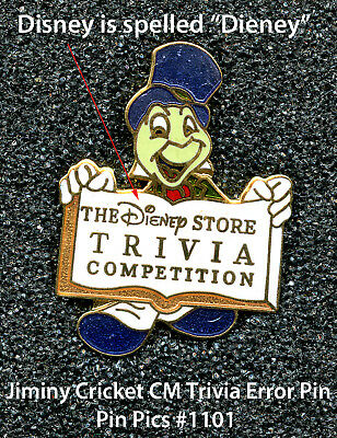 Jiminy Cricket CM Trivia Pin (Error) - **Very Hard to Find** Pin Pics #1101