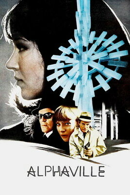"005 Alphaville - Love Thriller 1965 USA Classic Movie 14""x21"" Poster"