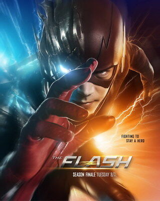 "095 The Flash - Justice League USA Hero Season 1 2 3 TV 24""x30"" Poster"