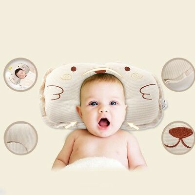 1x Anti-Roll Newborn Baby Infant Memory Pillow Prevent Flat Head Support Neck