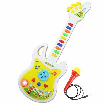 Electronic Guitar Music Instrument Educational Toy Kid Gift Early Education D6A3
