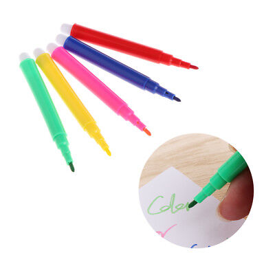 5 Colors Children Watercolor Brush Pen Set Water Based Ink Maker Painting Tools