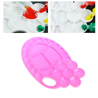 Art Paint Plastic Drawing Tray Color Palette For Watercolour Oil Painting Plate