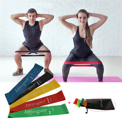 Resistance Loop Bands Rubber Mini Band Exercise Crossfit Strength Fitness lot