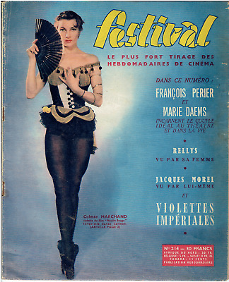 Magazine.  *FESTIVAL*  n°214 - 1953. (Colette MARCHAND)