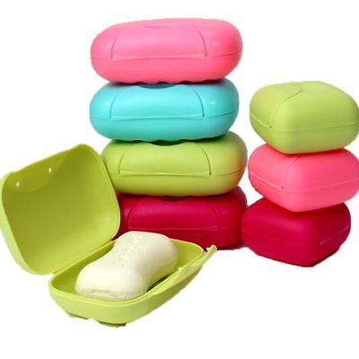 Bathroom Shower Travel Hiking Soap Box Dish Plate Holder Case Container Plastic
