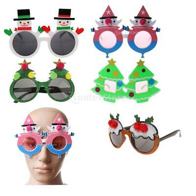 Merry Christmas Snowman Xmas Tree Party Glasses Xmas Sunglasses Fancy Dress