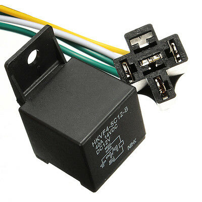 Car Auto DC 12V Volt 30/40A Automotive 4 Pin 4 Wire Relay Socket 30amp/40ampUK N