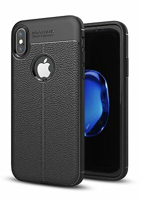 Fr iPhone XS 11 Pro Max 7 8 Plus Case Ultra-thin Leather Shockproof TPU Cover