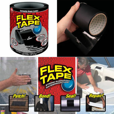 "AU Super Strong WaterProof Flex Tape 4""x 5"" Rubber Seal Stop Leaks Adhesive Tape"