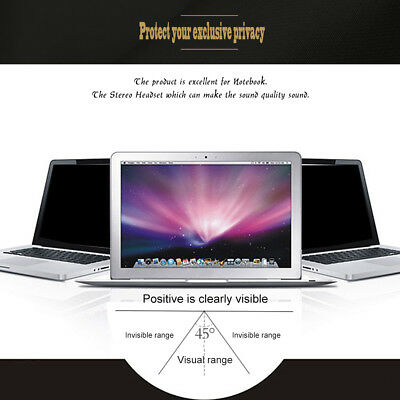 Privacy Screen Film For 14 inch  Laptop PC Widescreen Anti Glare UK