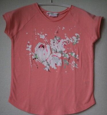 Bonpoint Girls Coral Pink T-Shirt Top 4 Years
