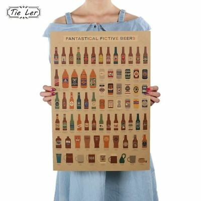 Beer Encyclopedia of Graphic Evolutionary History Bar Counter Adornment Kitchen