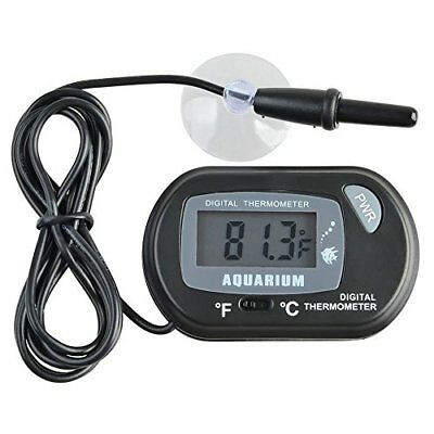 Yakamoz LCD Digital Aquarium Thermometer for Fish Tank Water Terrarium Temperatu