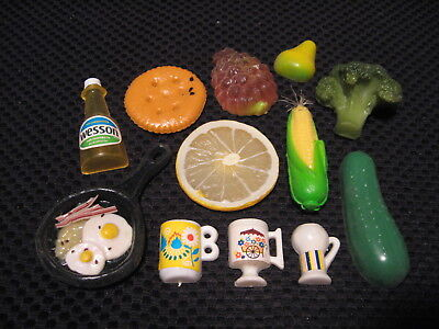 Vintage Old School 80's & 70's Mixed Plastic FOOD Lot of Refigerator Magnets