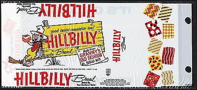 Vintage bag HILLBILLY BREAD Sunbeam Trausch Baking Iowa Wisconsin unused n-mint