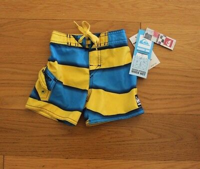 NWT QUIKSILVER INFANTS, magic ink board shorts, 6-9 months