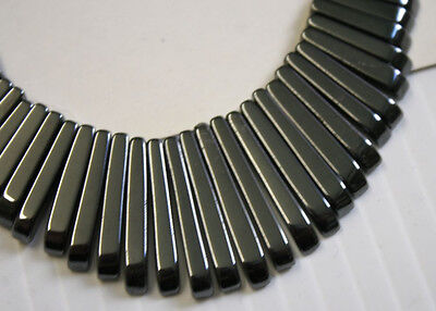 Natural Haematite Art Deco Necklace 41 Beads Set 10-30Mm Jewellery Making N1C