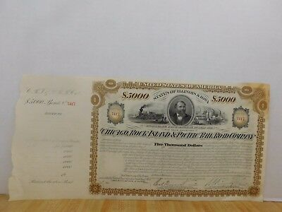 Chicago Rock Island & Pacific Railroad Co Stock Certificate unissued