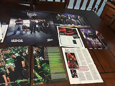 LAMB OF GOD 18X24 INCHES POSTER Randy Blythe CLIPPINGS FREE SH USA RARE