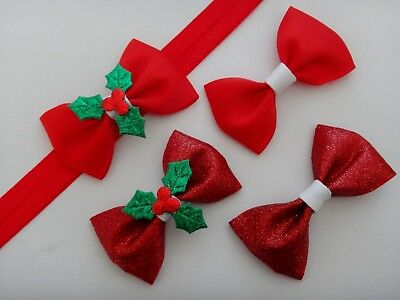 CHRISTMAS BOW Baby Headband - Different sizes available