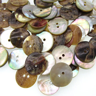 50/100/500 Natural Shell Buttons Mother of Pearl Round Button Accessories 18mm