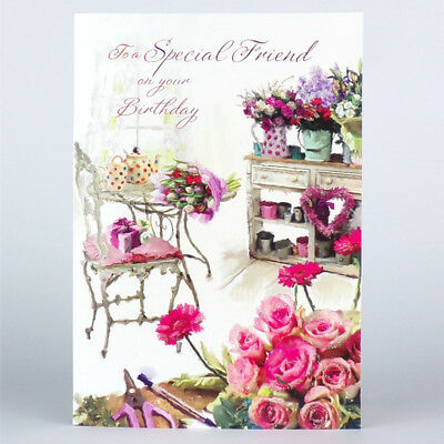 FRIEND Birthday CARD For A Special Friend LOVELY Happy GREETING