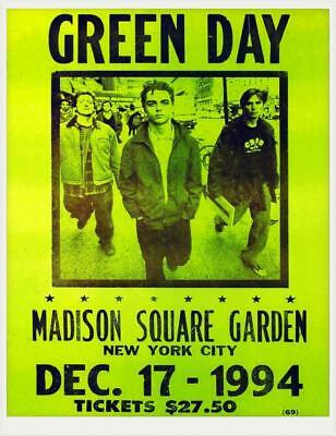 0604 Vintage Music Poster Art - Green day Madison Square Garden 1994