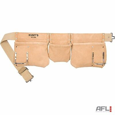 Kunys AP1300 Suede Leather Carpenter's Apron 5 Pocket Tool Pouch Work Belt