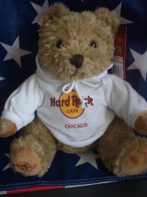 HRC Hard Rock Cafe Chicago Sweater Hoodie Bear 2015 NWT