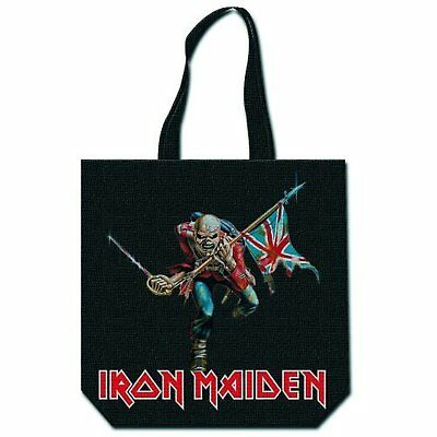 Iron Maiden The Trooper logo magasinage réutilisable noir sac officiel
