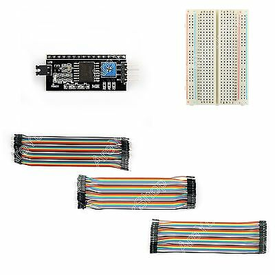 IIC/I2C Serial Interface Board Module Port 1602+400 P Breadboard+120Pc Jump Wire