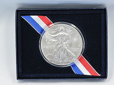 2012 American Silver Eagle Walking Liberty 1oz Coin in US Mint Box