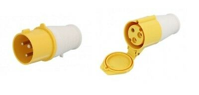 Pack Of 110 Volt 32 Amp Yellow Electrical Industrial Male Plug And Female Socket