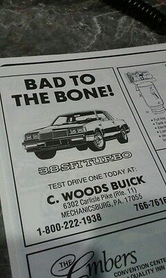 Buick ad grand national 86 rare 3.8 turbo photo poster gnx gn