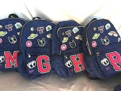 Justice For S Initial Backpack Emoji Patch Quilted Blue Dance Bag Tote Nwt