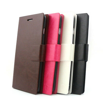 Leather Slot Stand Flip Case Cover For iPhone 6/6S/Plus/5/S/SE/5C Samsung Note 4