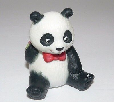 Panda Bear Figurine Vintage 1990 Boy Ceramic Avon Collectibles With Flowers 2.5""