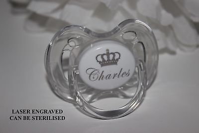 Personalised Dummy Avent *crown* Avent Dummy *can Be Sterilised*engraved*avent
