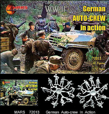 1:72 Figuren 72013 German Auto Crew In Action - Mars