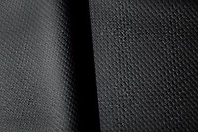 "Black Carbon Fiber Vinyl Faux Leather Auto Marine Upholstery Fabric By Yard 54""W"