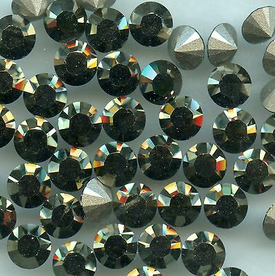1028 SS34 LG * 12 strass Swarovski  fond conique 7,2mm CRYSTAL METALL. LT GOLD F