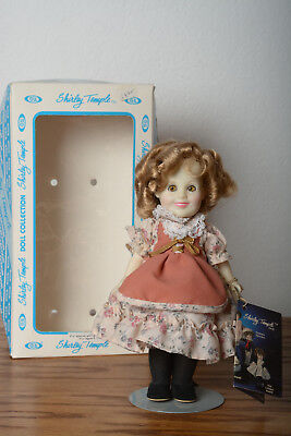 8 in Savannah of the Mounties Shirley Temple Doll by Ideal with box and stand