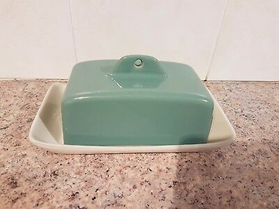 Vintage Denby Pottery Stoneware butter dish  Manor Green