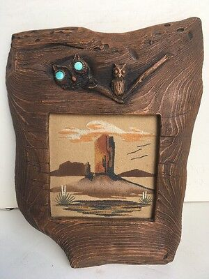 "Sand Painting ""Monument Valley"" Signed by Artist Larry? Price"
