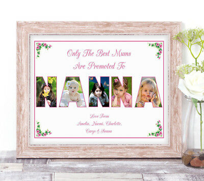 Personalised NANNA Photo Collage Word Art Print Birthday Mother's Day Gift A4