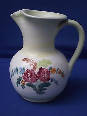 Denby Pottery Stoneware England H-O Floral Hand Painted Jug